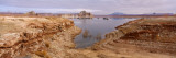Lake Surrounded By Rocks, Lake Powell, Arizona, USA Photographic Print