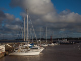 Sailboats at a Harbor, Colonia Del Sacramento, Uruguay Photographic Print