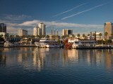 City at the Waterfront, Shoreline Village, Long Beach, Los Angeles County, California, USA Photographic Print