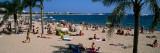 Tourists on the Beach, Plage De La Croisette, Cannes, Alpes-Maritimes, Provence-Alpes-Cote D'Azur Photographic Print