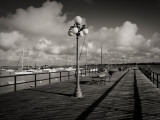 Lamppost on the Jetty, Colonia Del Sacramento, Uruguay Photographic Print
