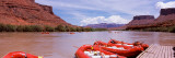 Inflatable Rafts at a Pier, Colorado River, Moab, Grand County, Utah, USA Photographic Print