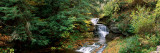 Waterfall in a Forest, Robert H. Treman State Park, Ithaca, Tompkins County, Finger Lakes Photographic Print
