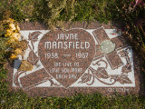 Tombstone of Jayne Mansfield in Hollywood Forever Cemetery, Santa Monica Boulevard, Hollywood Photographic Print