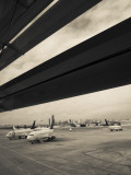 Airplanes on a Runway, Jorge Newbery Airport, Buenos Aires, Argentina Photographic Print