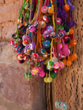 Multi-Colored Hangings on Wall, Tulmas, Purmamarca, Quebrada De Humahuaca, Argentina Photographic Print
