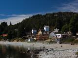 Tourists on the Beach, Playa Bonita, Lake Nahuel Huapi, San Carlos De Bariloche Photographic Print