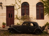 Vintage Car Parked in Front of a House, Calle De Portugal, Colonia Del Sacramento, Uruguay Photographic Print