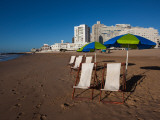 Deck Chairs on the Beach, Playa Brava, Punta Del Este, Maldonado, Uruguay Photographic Print