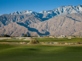 Golf Course with Mountain Range, Desert Princess Country Club, Palm Springs Photographic Print