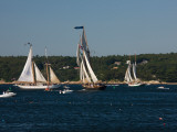 Schooner Leaving Harbor For a Race, Gloucester Schooner Festival, Gloucester, Cape Ann, MA Photographic Print