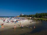 Tourists on the Beach, Good Harbor Beach, Gloucester, Cape Ann, Massachusetts, USA Photographic Print
