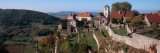 High Angle View of a Castle, Chateau Chalon, Jura, Franche-Comte, France Photographic Print