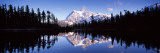 Reflection of Mountains in a Lake, Mt Shuksan, Picture Lake, North Cascades Ntl Park, Washington Photographic Print