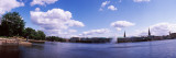 Clouds Over a Lake, Binnenalster Lake, Hamburg, Germany Photographic Print