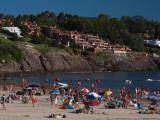 Tourists Enjoying on the Beach, Playa Portezuelo, Punta Ballena, Punta Del Este, Maldonado, Uruguay Photographic Print