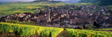 High Angle View of a Village, Riquewihr, Alsace, France Photographie