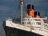 Rms Queen Mary Cruise Ship at a Port, Long Beach, Los Angeles County, California, USA Photographic Print