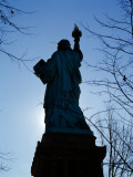 Low Angle View of a Statue, Statue of Liberty, Liberty Island, New York Harbor, New York City Photographic Print