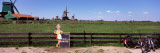 Crop in the Field, Zaanse Schans, Zaanstad, North Holland, Netherlands Photographic Print