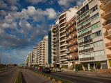 Apartments Along a Road, Rambla Mahatma Gandhi, Montevideo, Uruguay Photographic Print
