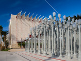Entrance with Urban Lights Sculptures in an Art Museum, Los Angeles County Museum of Art Photographic Print