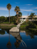 Mammoth Sculpture in a Pool, La Brea Tar Pits, Miracle Mile, Los Angeles County, California, USA Photographic Print