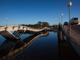 Two Bridges Across a River, Leonel Viera Bridge, La Barra, Punta Del Este, Maldonado, Uruguay Photographic Print