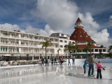 Tourists Ice-Skating in a Hotel, Hotel Del Coronado, Coronado, San Diego County, California, USA Photographic Print
