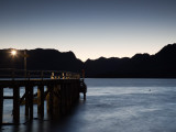 Pier at a Lake, Nahuel Huapi Lake, Villa La Angostura, Road of the Seven Lakes Photographic Print