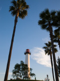 Low Angle View of a Lighthouse, Shoreline Village, Long Beach, Los Angeles County, California, USA Photographic Print