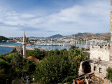 View of a Harbor From a Castle, St Peter's Castle, Bodrum, Mugla Province, Aegean Region, Turkey Photographic Print