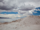 Clouds Over a Salt Flat, Salinas Grandes, Jujuy Province, Argentina Photographic Print