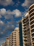 Low Angle View of Apartments, Rambla Mahatma Gandhi, Montevideo, Uruguay Photographic Print