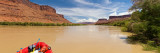 Inflatable Raft in a River, Colorado River, Grand County, Utah, USA Photographic Print