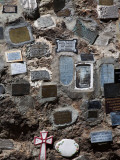 Memorial Plaques on a Stone Wall at a Shrine, San Carlos De Bariloche, Patagonia Photographic Print