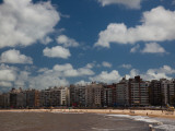Apartments on the Beach, Playa Pocitos, Pocitos, Montevideo, Uruguay Photographic Print