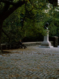 Monument in a Park, Alexander Von Humboldt Monument, Central Park, Manhattan, New York City Photographic Print