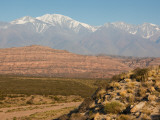 Landscape with Mountains in the Background, Andes, Lujan De Cuyo, Mendoza Province, Argentina Photographic Print