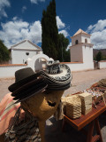 Market Stall in Front of a Church, Uquia, Quebrada De Humahuaca, Argentina Photographic Print