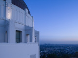 Observatory with Downtown at Dusk, Griffith Park Observatory, Los Angeles, California, USA Photographic Print