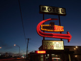 Low Angle View of a Motel Sign, Route 66, Kingman, Mohave County, Arizona, USA Photographic Print