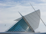 Museum in a City, Milwaukee Art Museum, Lake Michigan, Milwaukee, Wisconsin, USA Photographic Print
