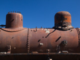 Low Angle View of a Locomotive in a Museum, Steamtrain La Trochita, El Maiten, Chubut Province Photographic Print