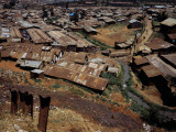 High Angle View of Huts in a Shanty Town, Kibera, Nairobi, Kenya Photographic Print