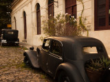 Vintage Cars Parked in Front of a House, Calle De Portugal, Colonia Del Sacramento, Uruguay Photographic Print