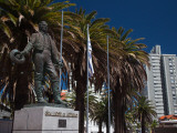 Low Angle View of a Statue of General Artigas, Punta Del Este, Maldonado, Uruguay Photographic Print
