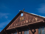 Low Angle View of a Railroad Station, Grand Canyon Depot, Grand Canyon Photographic Print