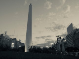 Low Angle View of a Monument, El Obelisco, Plaza De La Republica, Buenos Aires, Argentina Photographic Print