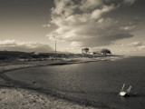 Ghost Town on a Coast, Salton Sea, Salton City, Imperial County, California, USA Photographic Print